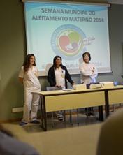 CHL premeia as vencedoras do II concurso da Semana Mundial do Aleitamento Materno 2014