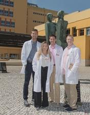 Primeiros estudantes do Programa Atlantis chegam ao CHL para observação de práticas clínicas